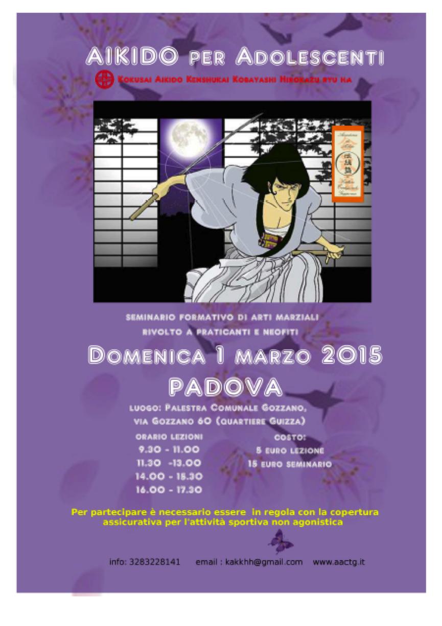 Seminario adolescenti Padova 1 marzo 2015